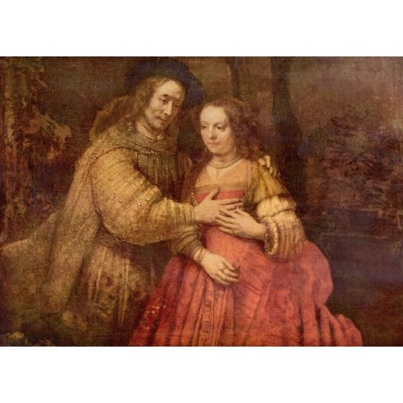 Harmensz Van - Framed Art for Your Wall Rembrandt Harmensz. van Rijn - The Jewish Bride (The couple) 10 x 13 Frame