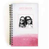 Aqua Tones - Personalized 5 x 8 Notebook