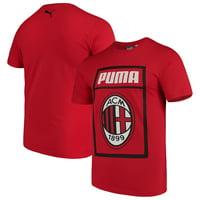 AC Milan Puma Fan Cotton T-Shirt - Red