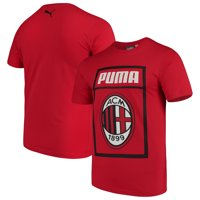 AC Milan Puma Fan Cotton T-Shirt - Red