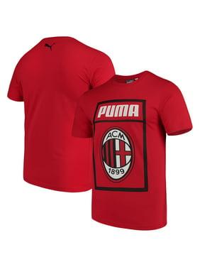 a77d9e42584 Product Image AC Milan Puma Fan Cotton T-Shirt - Red