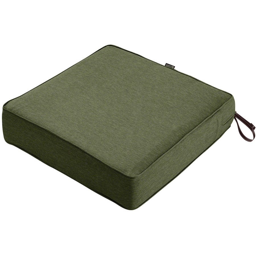 "Classic Accessories Montlake FadeSafe Square Patio Lounge Seat Cushion, 5"" Thick, Heavy-Duty Outdoor Patio Cushion with Water-Resistant Backing"
