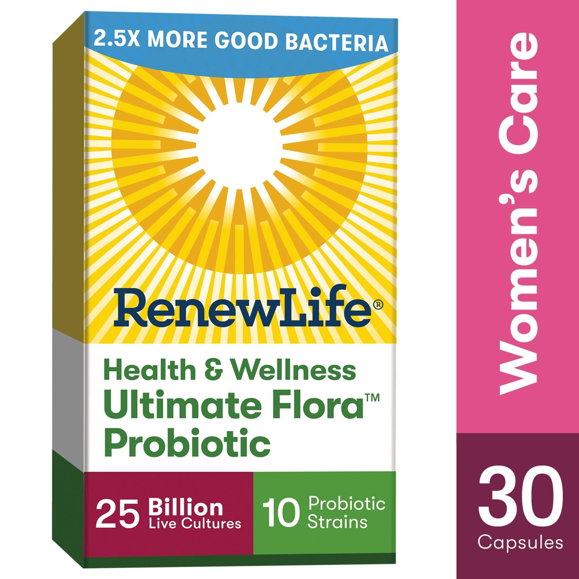 Renew Life Women S Probiotic 1 Women S Probiotic 25 Billion 30 Ct Walmart Com Walmart Com