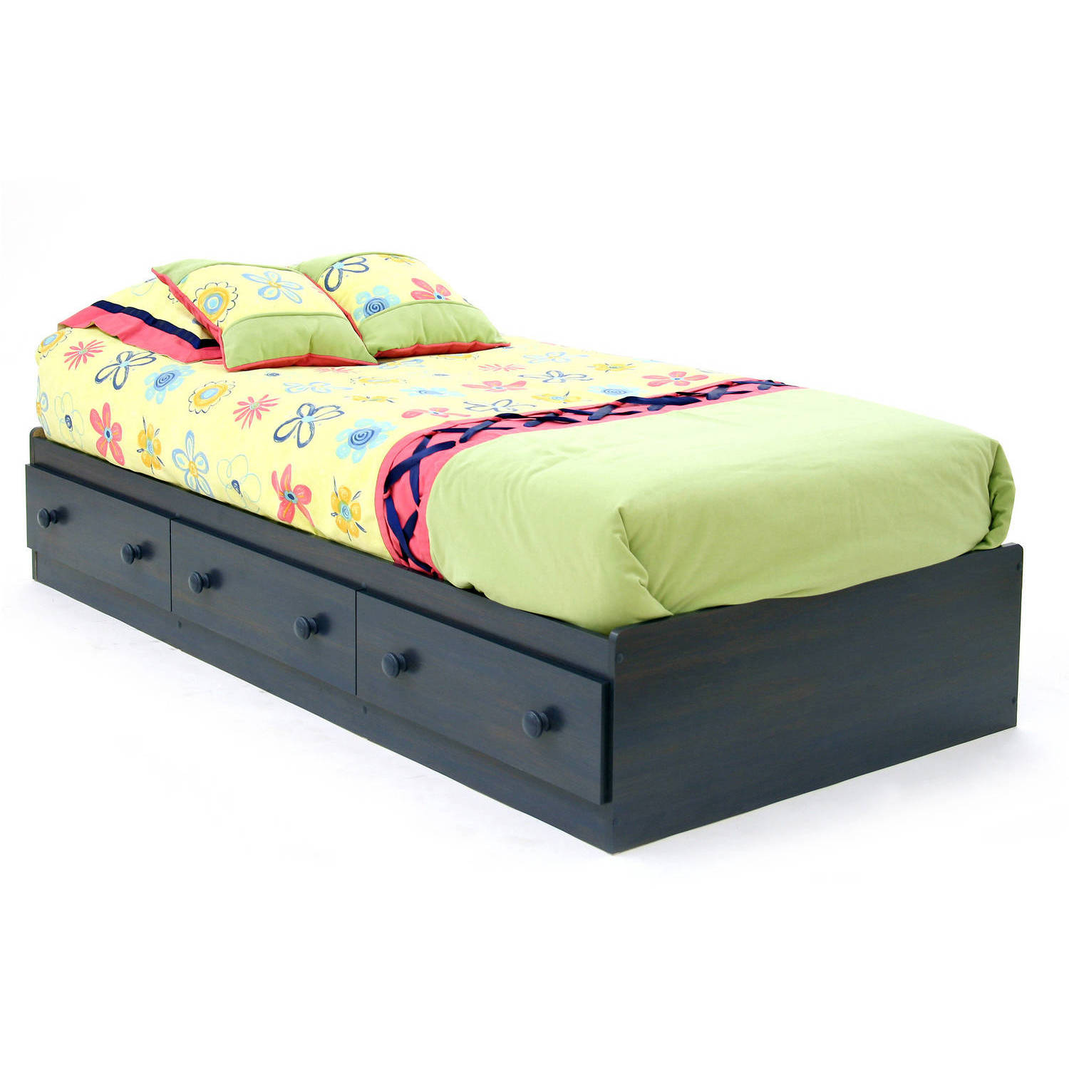 South Shore Summer Breeze Twin Mates Bed, Multiple Finishes