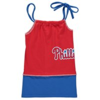 Philadelphia Phillies Refried Apparel Girls Toddler T-Shirt Tank Top Dress - Red