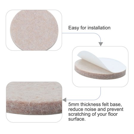 "Furniture Pads Round 1 3/4"" Self-stick Anti-scratch Floor Chair Protector 12pcs - image 5 de 7"