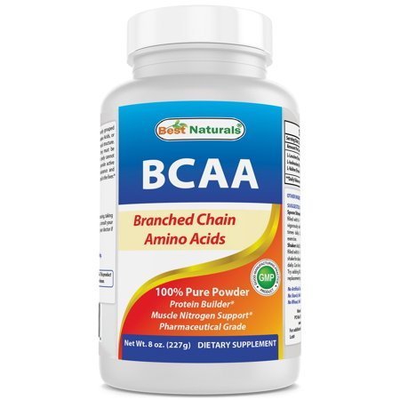 Best Naturals BCAA Powder 8 OZ Branch Chain Amino Acids Pharmaceutical