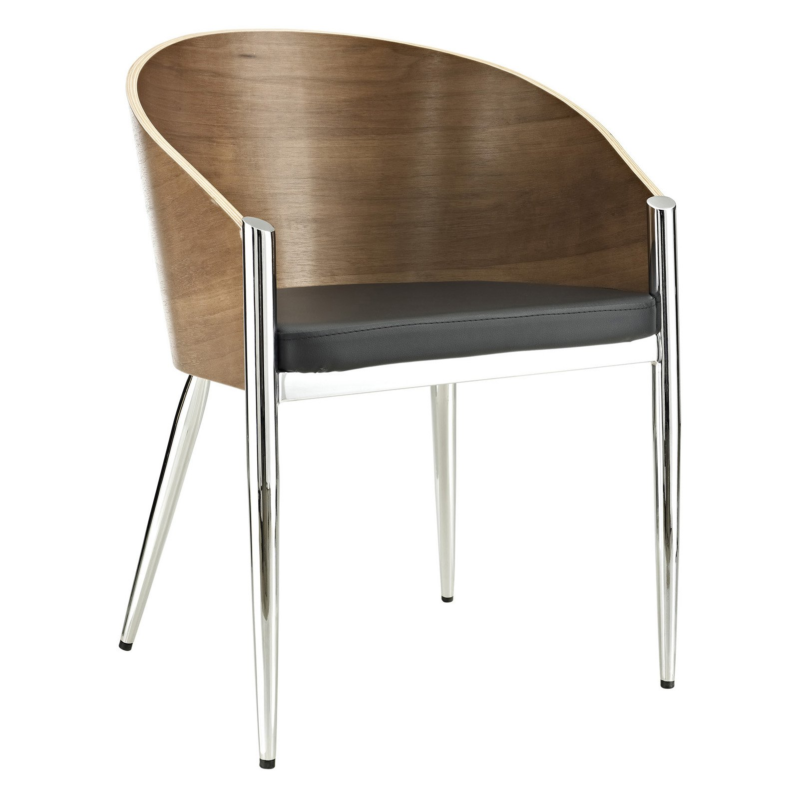 Modway Cooper Dining Leatherette Seat Armchair, Multiple Colors