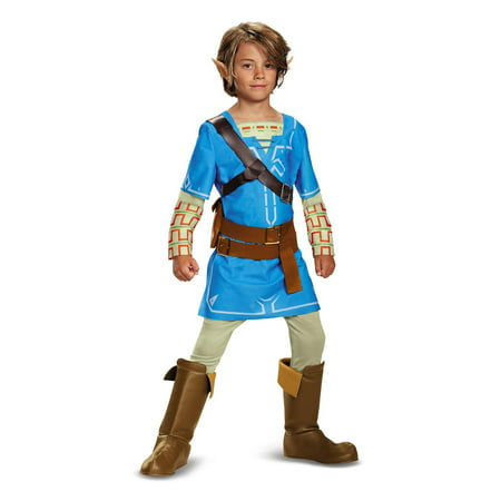 Zelda Link Breath of The Wild Deluxe Child Halloween Costume](Link Halloween Costume Zelda)