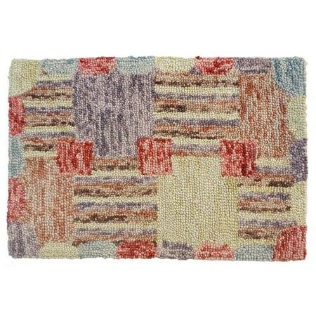 Red Barrel Studio Sarepta Hand Tufted Wool Yellow Red Area Rug