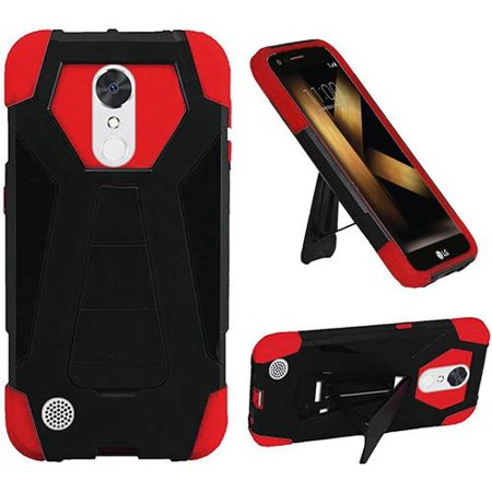 super popular bb88b 193ed Phone Case for LG K20 Plus (T-Mobile) / K20 V (Verizon Wireless) / LG  Harmony / LG V5/ LG M250 / LG VS501, Hybrid Cover Case with Kickstand (Red)