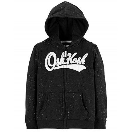 OshKosh B'Gosh Girls' Full Zip Logo (Logo Zip Hoodie Sweatshirt)