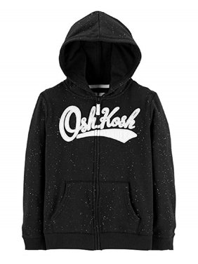 9fc97459c36b63 Product Image OshKosh B'Gosh Girls' Full Zip Logo Hoodie