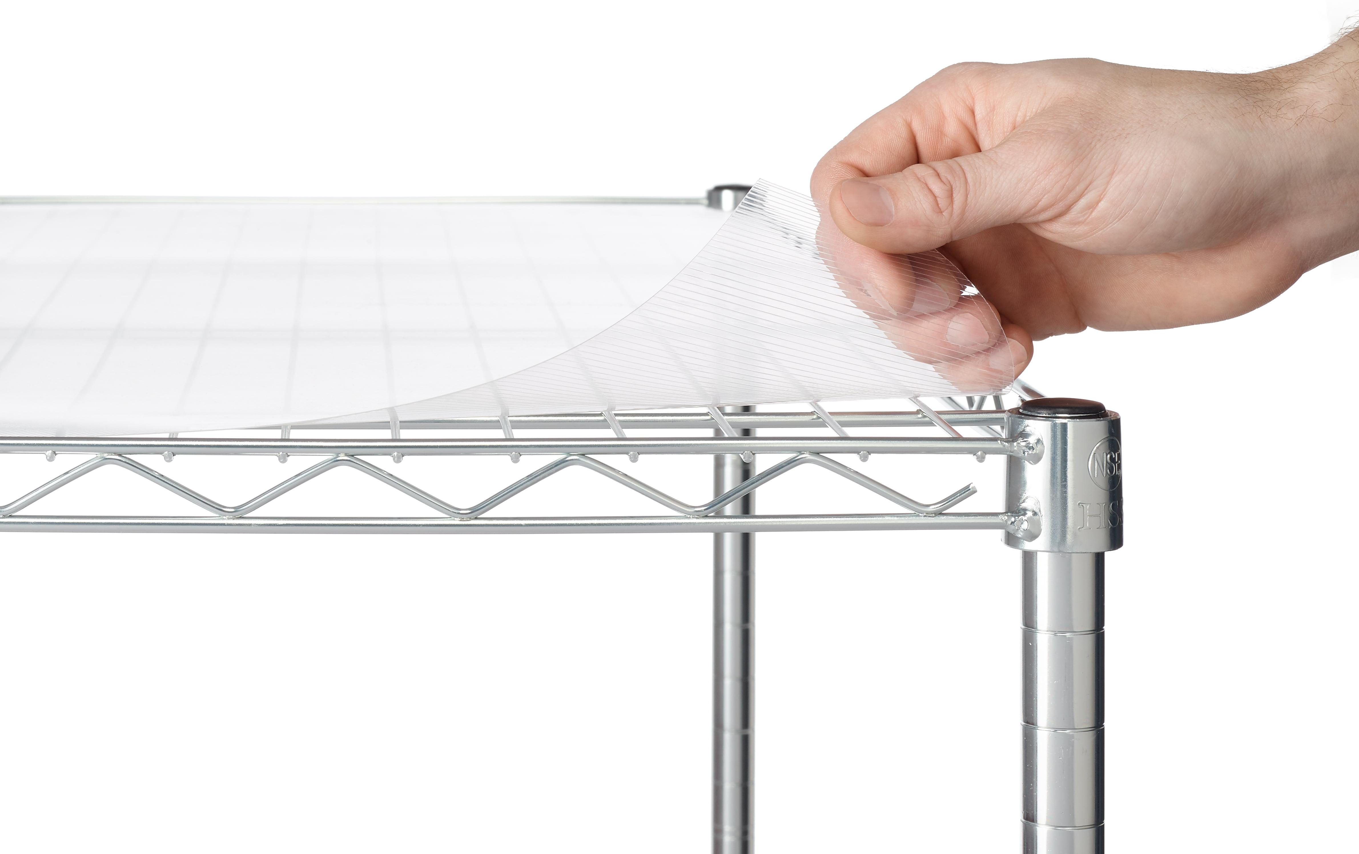 "Work Choice Shelf Liners For 13"" X 23"" Shelf, Clear"