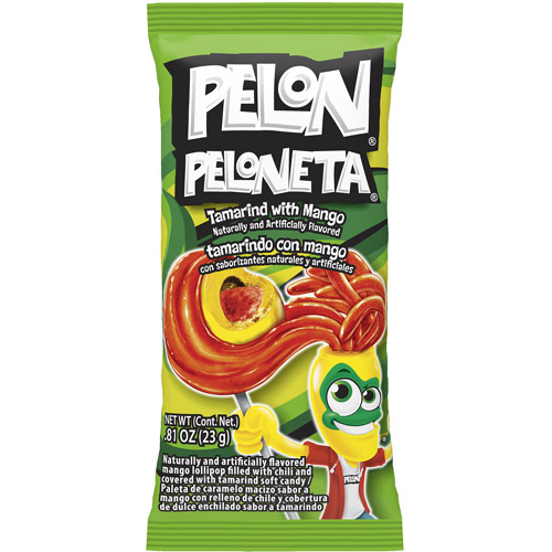 Pelon Peloneta Tamarind with Mango Lollipop, 0.81 oz