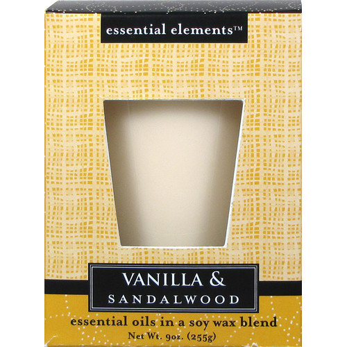 Fortune Products Candle-Lite Vanilla and Sandalwood Pillar Candle (Set of 4)