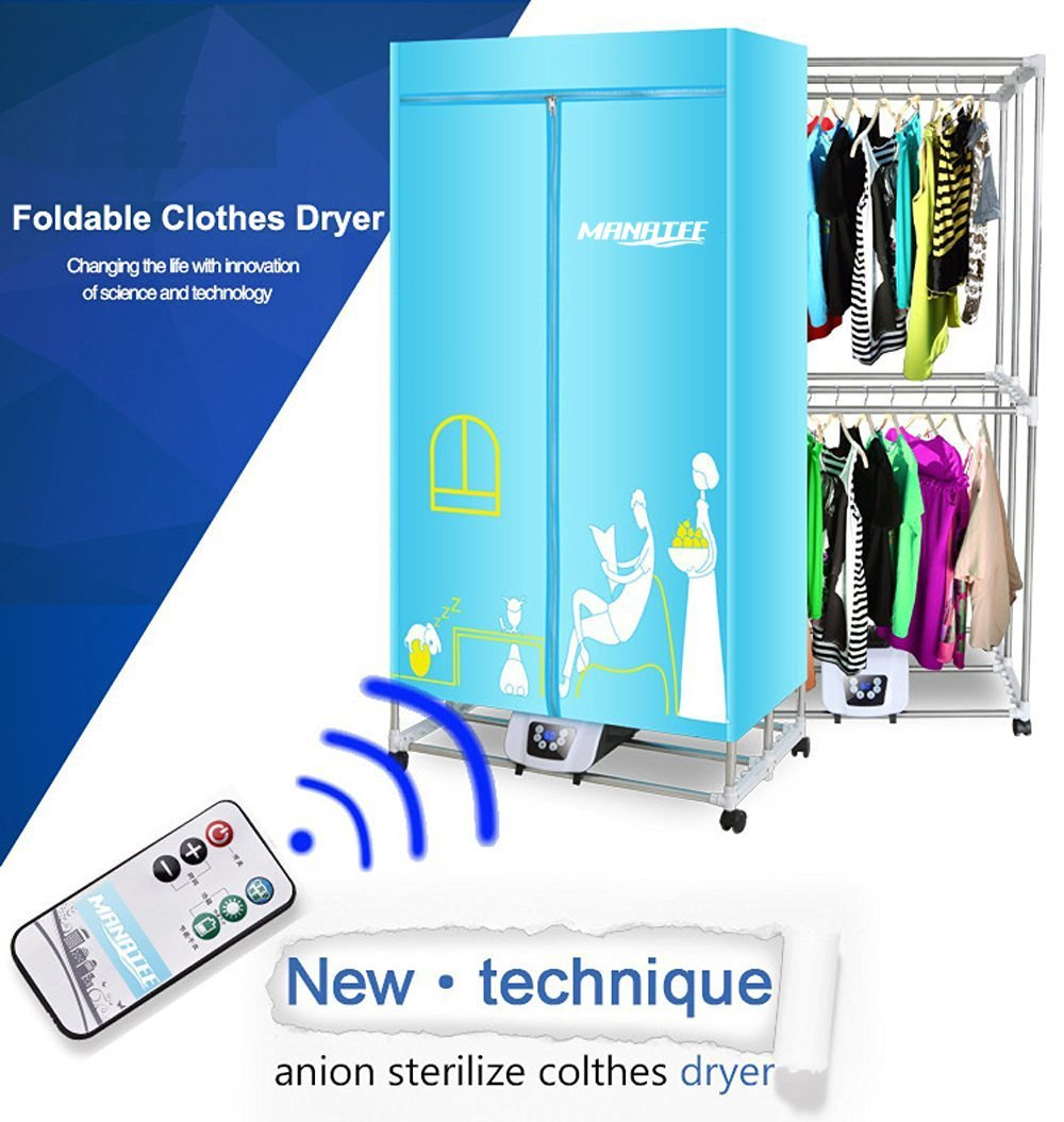 Portable Clothes Dryer 1200W Electric Laundry Drying Rack 33 LB Capacity  Best Energy Saving (Anion) Folding Dryer Quick Dry U0026 Efficient Mode Digital  ...