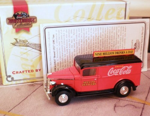 Collectibles Coca Cola Collection 1937 GMC VAN 1:43 Die Cast, 1:43 Die Cast By Matchbox by