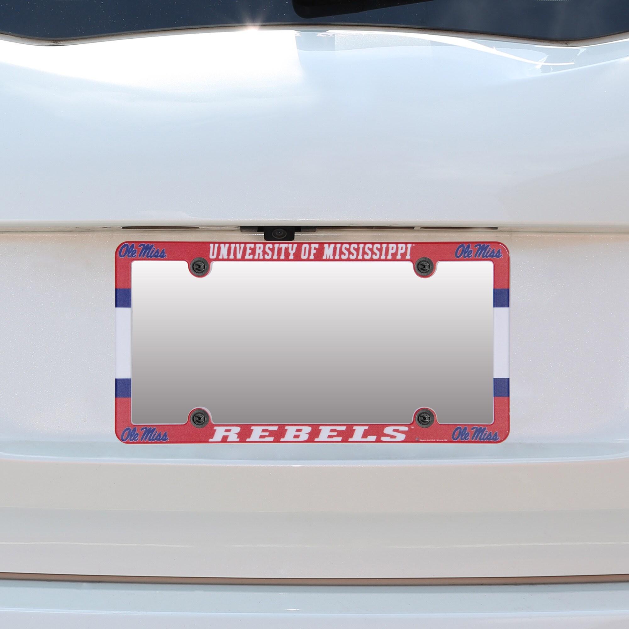 Mississippi Rebels Plastic Tag License Plate Tag Frame