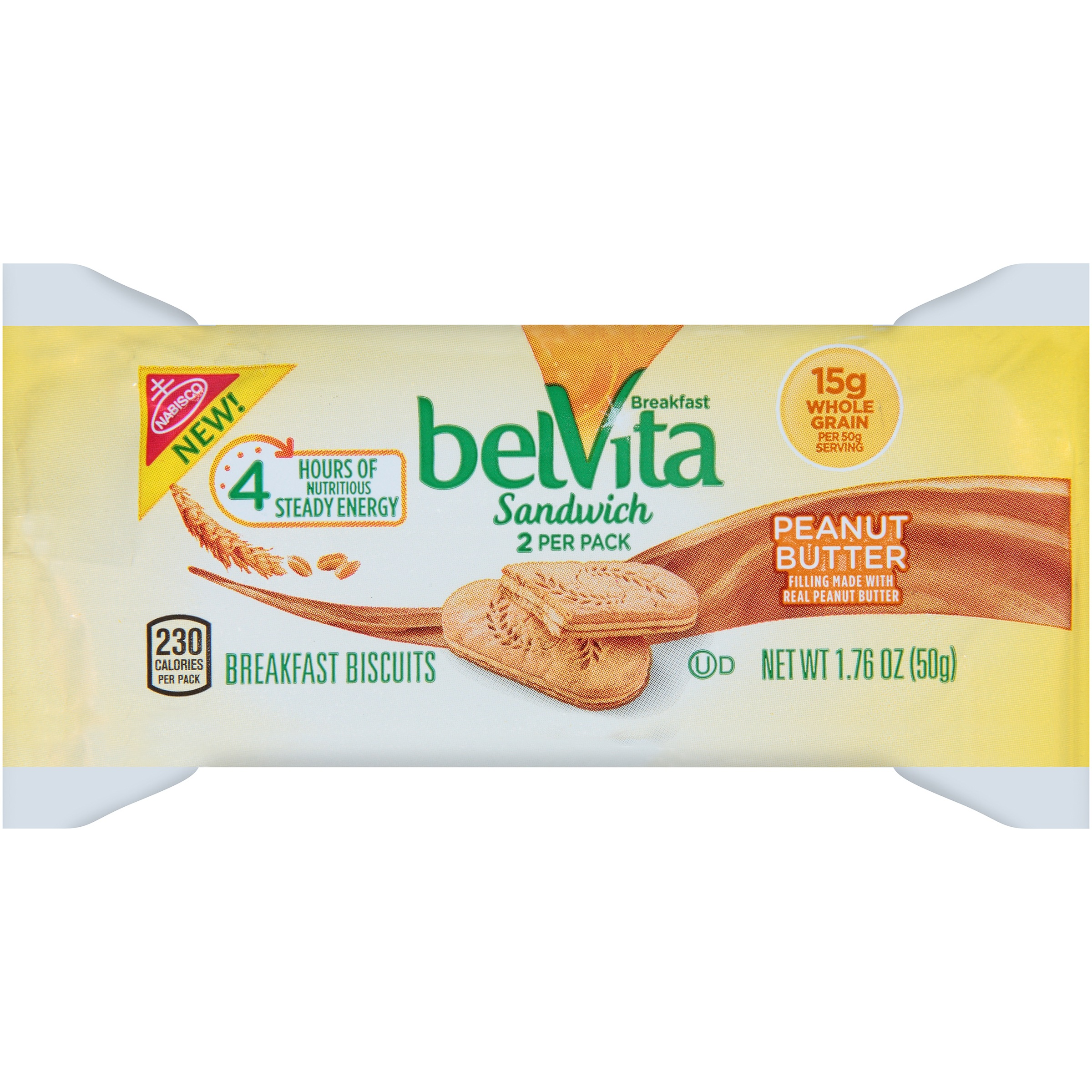 belVita Sandwich Peanut Butter Breakfast Biscuits 2 ct Pack