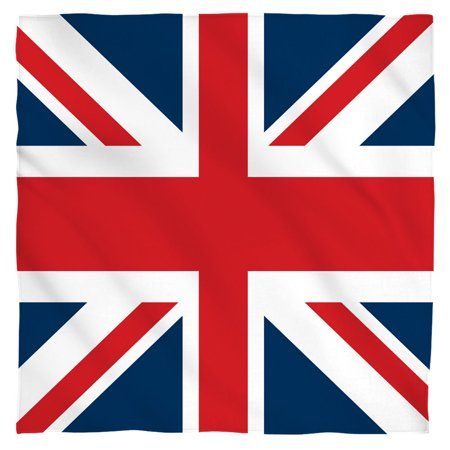 Union Jack Bandana (White, 22x22)