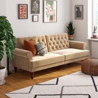 Novogratz Cassidy Sofa Bed in Velvet, Ivory