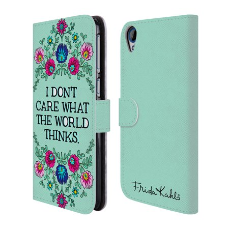 OFFICIAL FRIDA KAHLO ART & QUOTES LEATHER BOOK WALLET CASE COVER FOR HTC PHONES 2