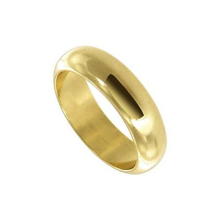 - Gem Avenue 18k Gold Layered 5mm Wide Plain Wedding Band