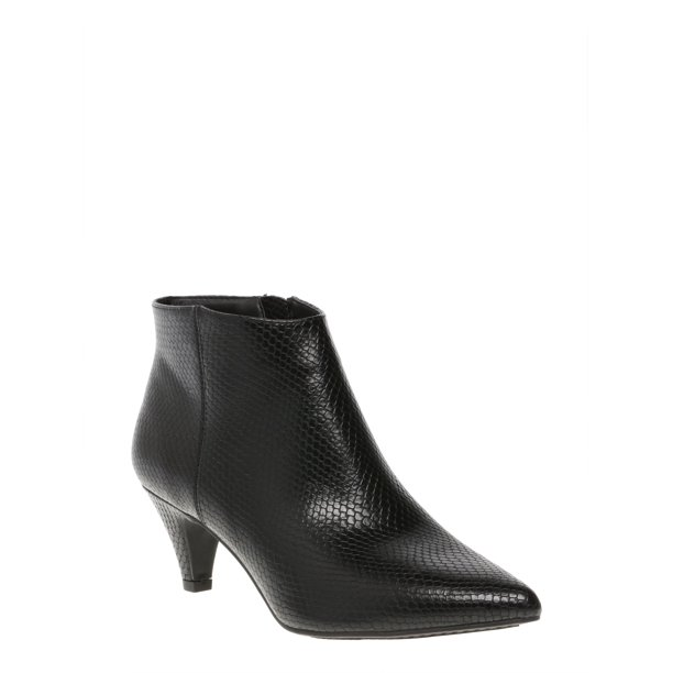 Women's Time And Tru Kitten Heel Bootie