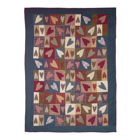 "Image of Patch Magic Country Hearts Quilt Twin 65""X 85"""