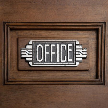 Design Toscano Streamlined Art Deco Cast Iron Office Door - Art Deco Door