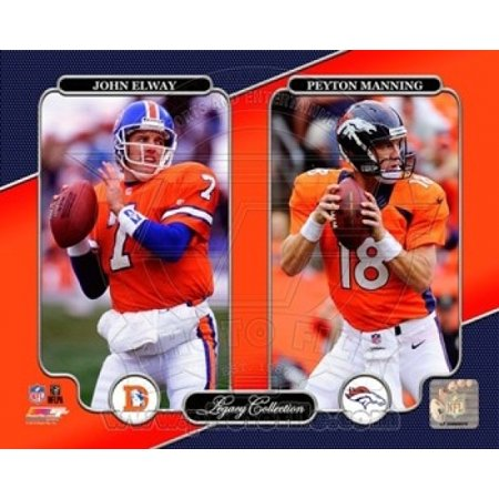 John Elway & Peyton Manning Legacy Collection Sports Photo John Elway Signed Photograph