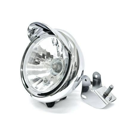 Krator Motorcycle Custom Chrome Headlight Head Light For Yamaha TX SR CS YX RD 350 400 500 600 650 750 Cs Custom Fit Cover