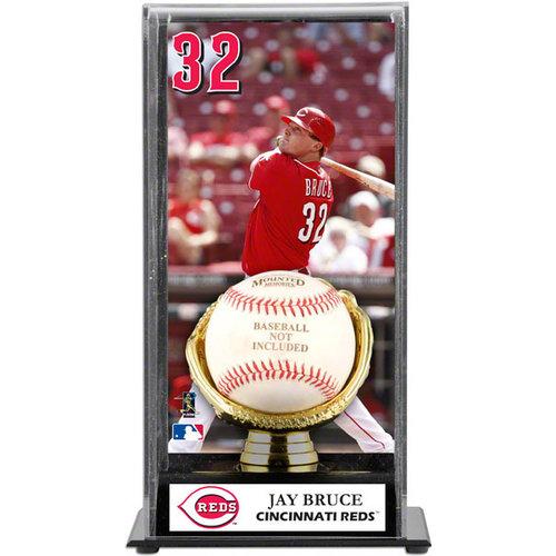 MLB - Jay Bruce Gold Glove Baseball Display Case   Details: Cincinnati Reds
