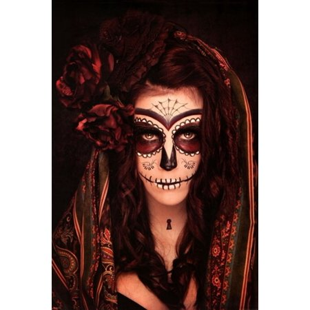 Day of the Dead - Tattoo Poster Poster Print (Day Of The Dead Tattoos)