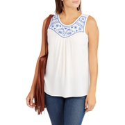Women's Embroidered Front Tank Top
