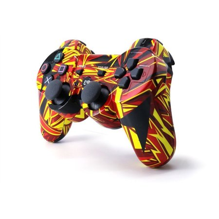 PS3 controller Wireless Bluetooth Double Shock Sixaxis Remote Gamepad for Sony PS3/PC ()