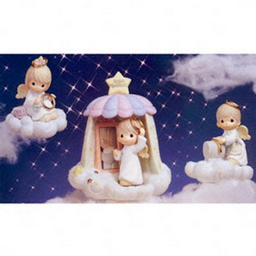 Precious Moments Heavenly Daze 879576 The Halo Maker Vignette Set of 3