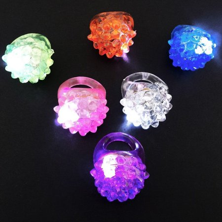 24 PCS Light-Up Jelly Rings Flashing LED Party Favors Blinking Bumpy for $<!---->