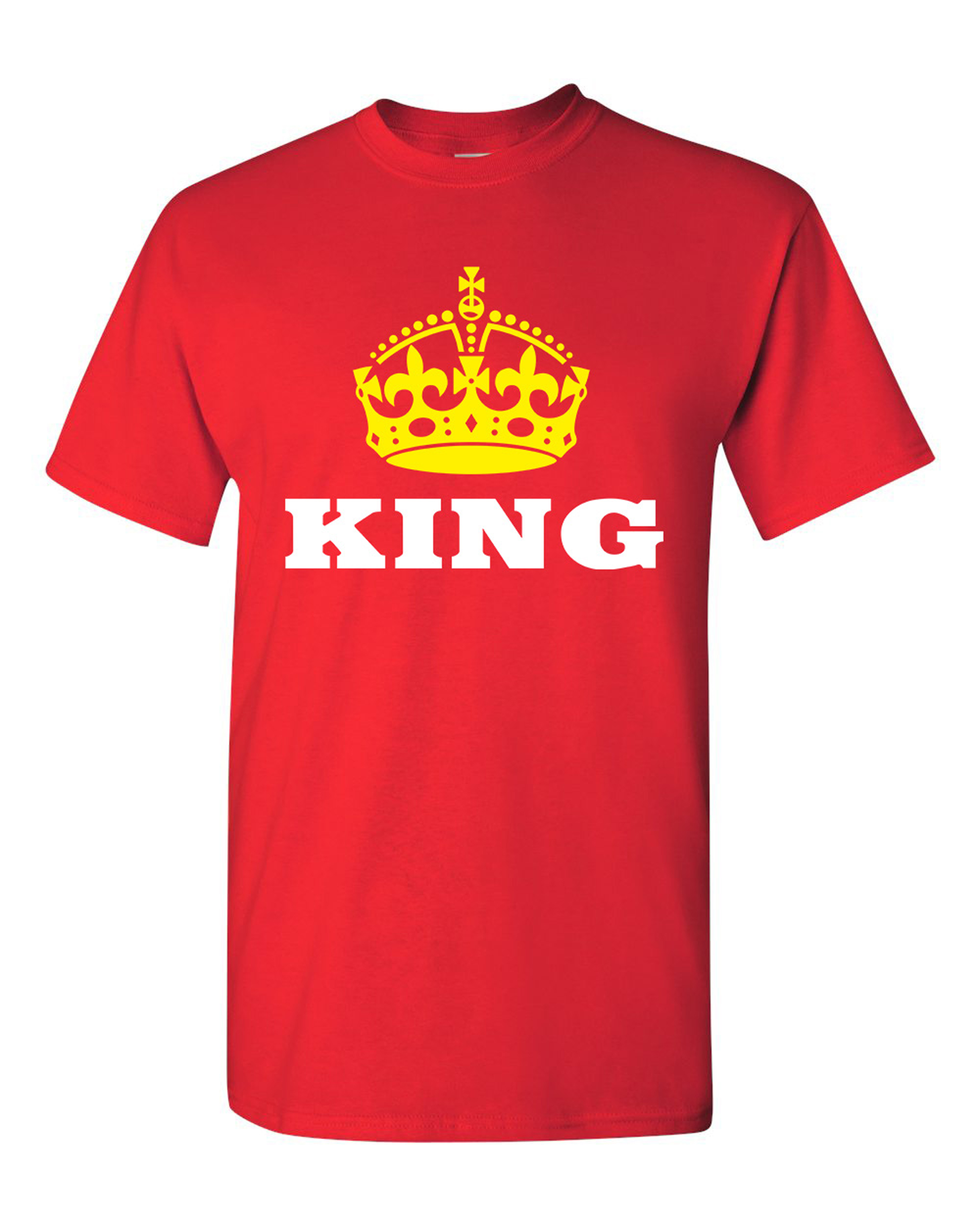 5017ed2d City Shirts - King Gold Crown Couple Love Matching Relationship Funny DT  Adult T-Shirt Tee - Walmart.com