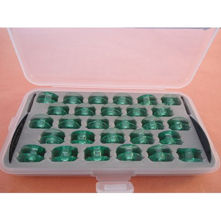 Box Of 28 Clear Bobbins Husqvarna Viking Group 7 Designer