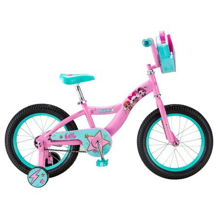 LOL Suprise kids bike, 16-inch wheel, Girls, Pink ()