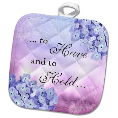 3dRose To Have and to Hold Marriage Wedding Valentines Day Lilac Floral Saying Pot (Valentine's Sayings)