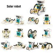 13 in 1 Solar Robot DIY Children Intelligence Solar Toy Solar Handmade Toy Set STEM Science Toy Solar Energy Building Block Puzzle