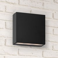 Possini Euro Design Stanford Black Outdoor Led Wall Up And Downlight