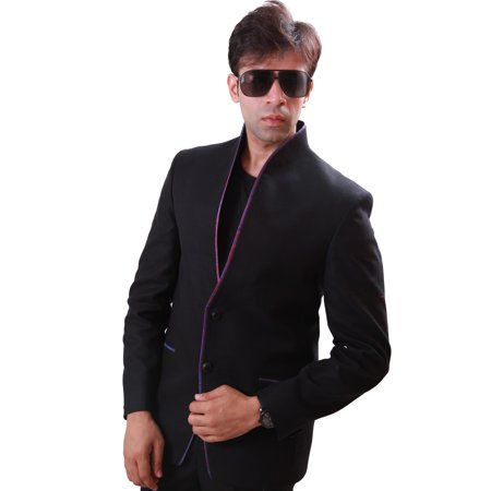 High Neck Classy Black Blazer for Men. This product is custom made to order. - image 3 de 3