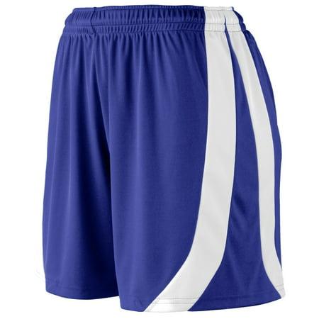 Augusta Sportswear Women's Triumph Short Xl Purple/White - image 1 de 1