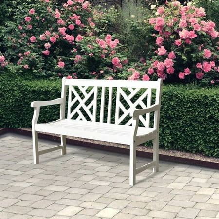 Bradley Eco-friendly 4-foot Outdoor White Wood Garden Bench ()