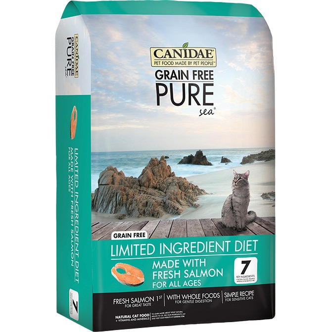 CANIDAE Grain Free PURE Sea Cat And Kitten Formula Made with Fresh Salmon