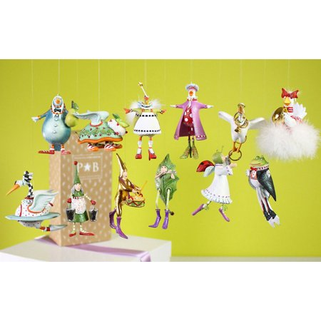 Patience Brewster  MIni 12 days of Christmas Ornaments Set of 12